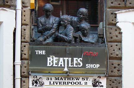 Beatles shop Ливерпуль