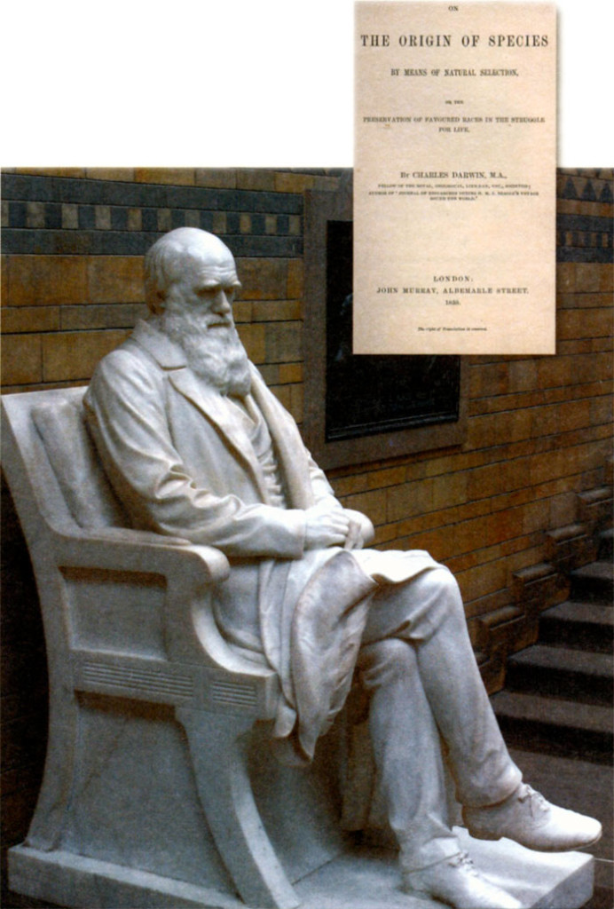 Скульптура Чарльза Дарвина