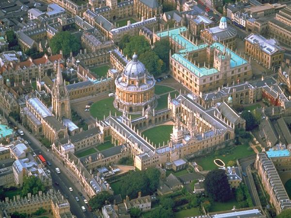 Город Оксфорд с высоты