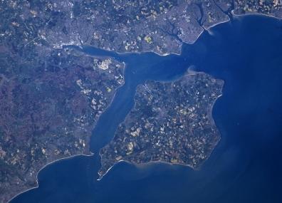 Остров Уайт - снимок из космоса