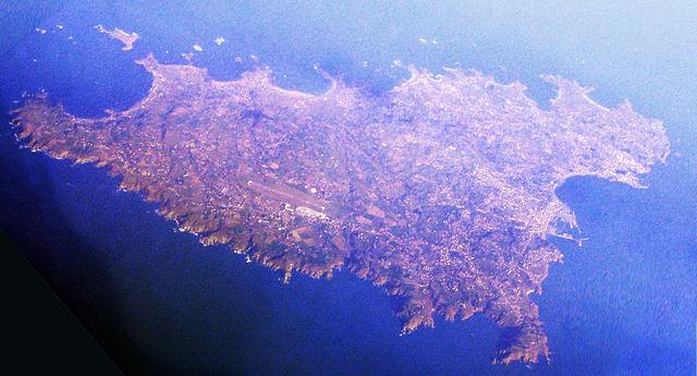 Остров Гернси с высоты