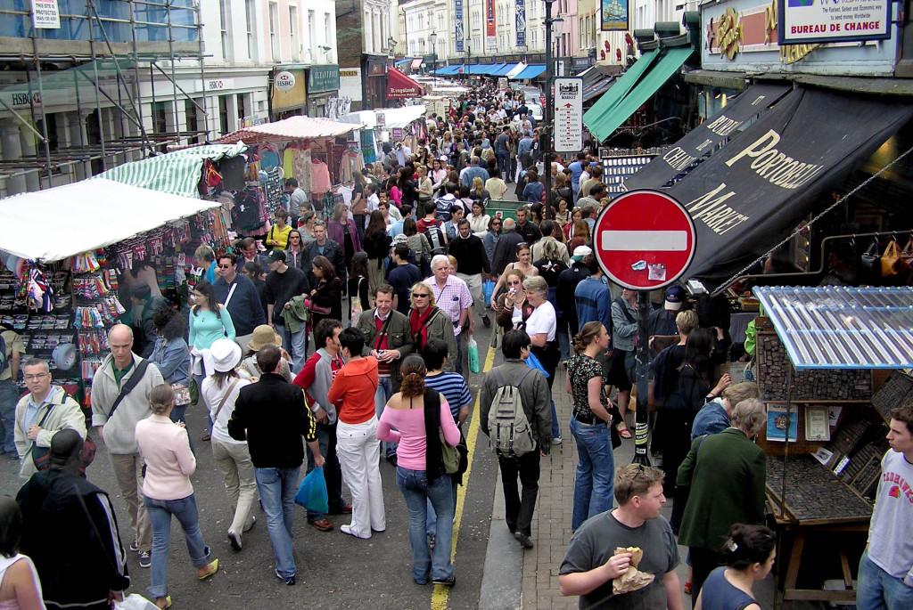 Рынок Портобелло в Лондоне