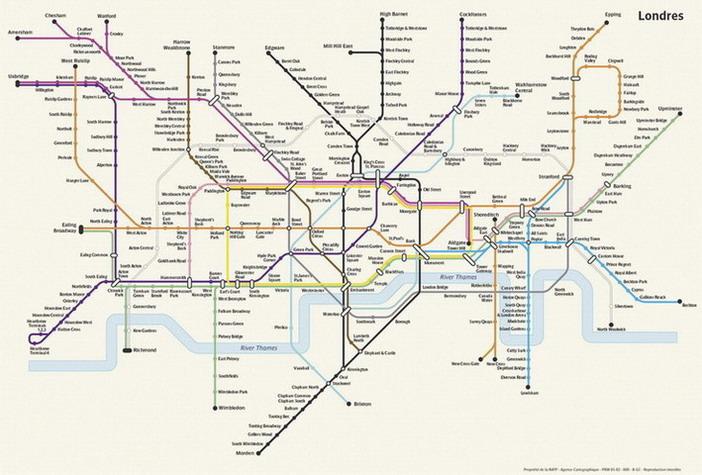 Карта лондонской подземки