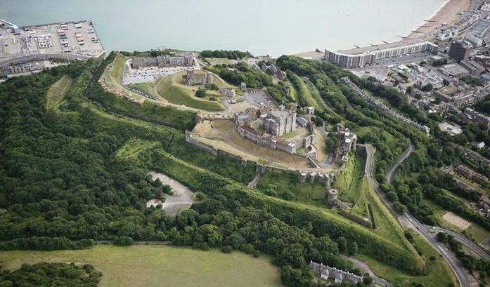 Замок Дувр с высоты птичьего полета