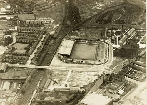 Вид на Олд Траффорд сверху. 1930 год.
