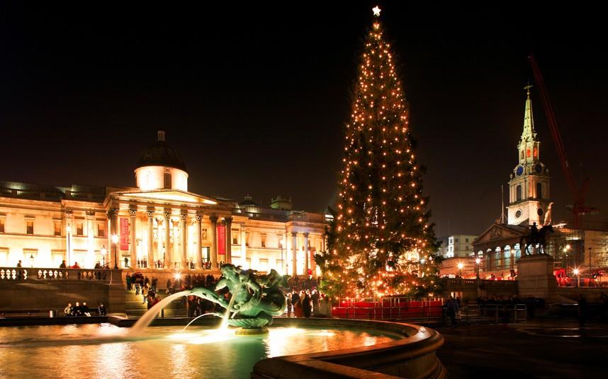 Трафальгарская площадь на Рождество