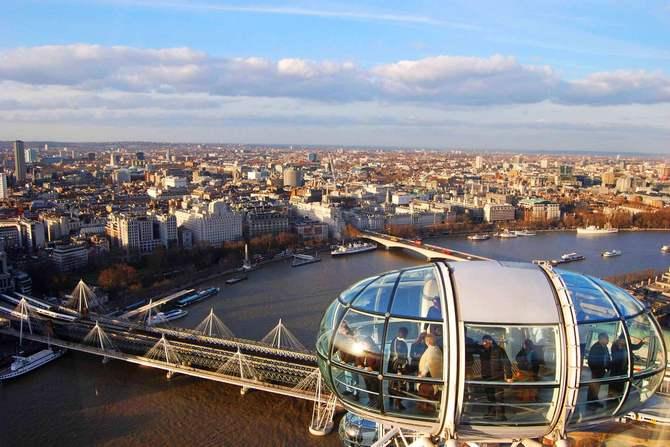 Вид из кабины Лондонского глаза