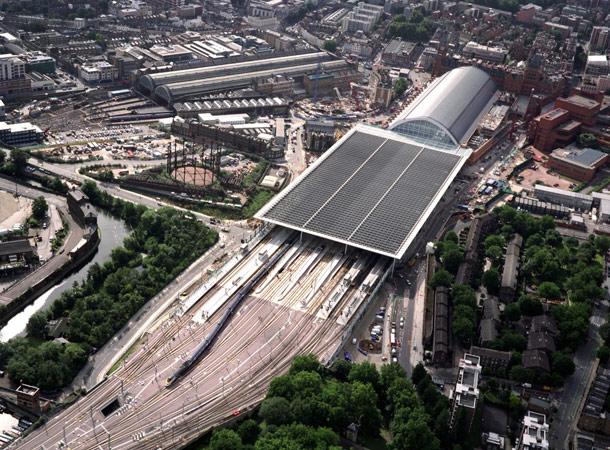 Вокзал Сент-Панкрас с высоты птичьего полета